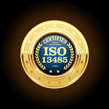ISO 13485 standard medal - Medical devices
