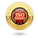 ISO 26000 certified medal - Social responsibility