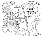 Black and white grim reaper theme 2