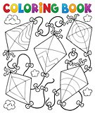Coloring book flying kites