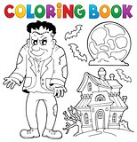 Coloring book Frankenstein theme