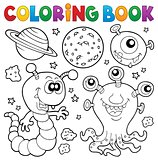 Coloring book monster theme 2