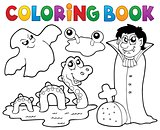 Coloring book monster theme 4