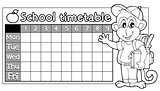 Coloring book timetable topic 6