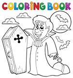 Coloring book vampire theme 4