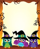Halloween image with owls theme 1