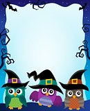 Halloween image with owls theme 2