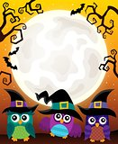 Halloween image with owls theme 3