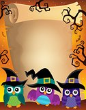 Halloween parchment with owls theme 2