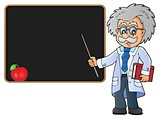 Scientist by blackboard theme image 2