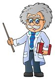 Scientist with pointer theme image 1