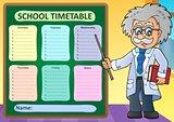 Weekly school timetable design 1