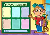 Weekly school timetable subject 9