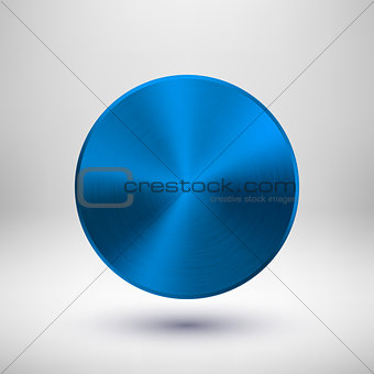 Blue Metal Circle Badge