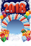 New Year decoration with balloons