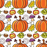 Autumn seamless pattern series