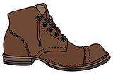 Old lacing shoe
