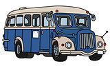 Vintage blue bus