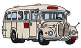 Retro cream bus