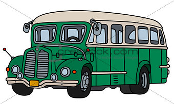 Classic green bus