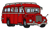 Old dark red bus