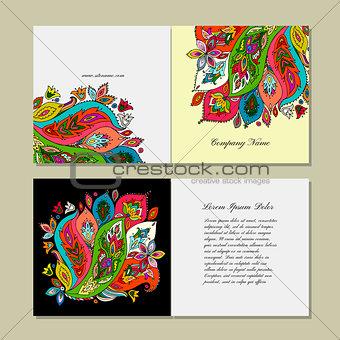 Greeting card design, floral background