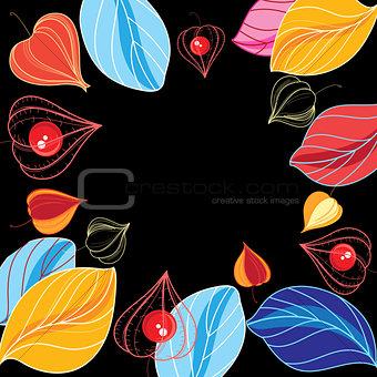 Autumn vector color background