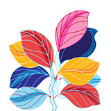 Vector illustration of a beautiful colored leaves