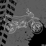 Motorcycle drawn by contour