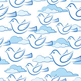 Seamless with Birds in Sky