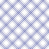 Geometric plaid diagonal line blue and white minimalistic pattern.