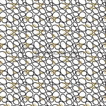 Abstract small black circles seamless pattern.