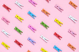 Colorful clothespins background