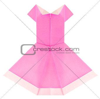 Beautiful summery pink dress of origami