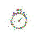 Abstract stopwatch splash