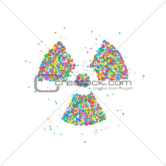 Abstract radiation icon