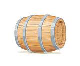 Horizontal Wooden barrel for wine or beer