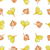 Pattern with yellow leaves