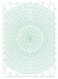 Green polar coordinate circular grid graph paper