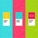 Line Easter Patterns Set