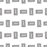 Abstract geometric rectangle line shapes seamless vector pattern.