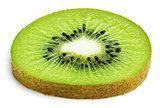 Slice of kiwi fruit isolated on white