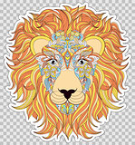 Colorful head of lion