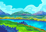 Landscape, Vector illustration
