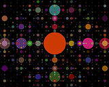 Background circles of different colors