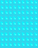 Seamless pattern with summer blue raindrops