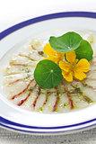 fish carpaccio, italian dish