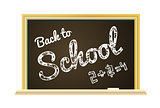 Back to school Illustration on a chalkboard background