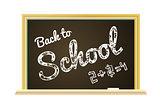 Back to school Illustration on a chalkboard background