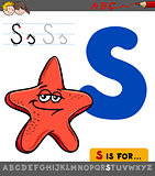 letter s with cartoon starfish